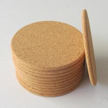 软木杯垫定制桌垫餐垫隔热垫纯色圆形防滑防水可印刷LOGO厂家直供