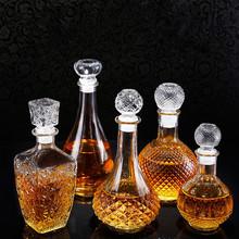 透明1000ml歐式醒酒器玻璃紅酒瓶葡萄酒瓶鉆石圓球玻璃瓶廠家直銷