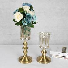 欧式创意插花装饰品 玻璃花瓶 客厅电视柜 家居 餐桌摆件样板软装