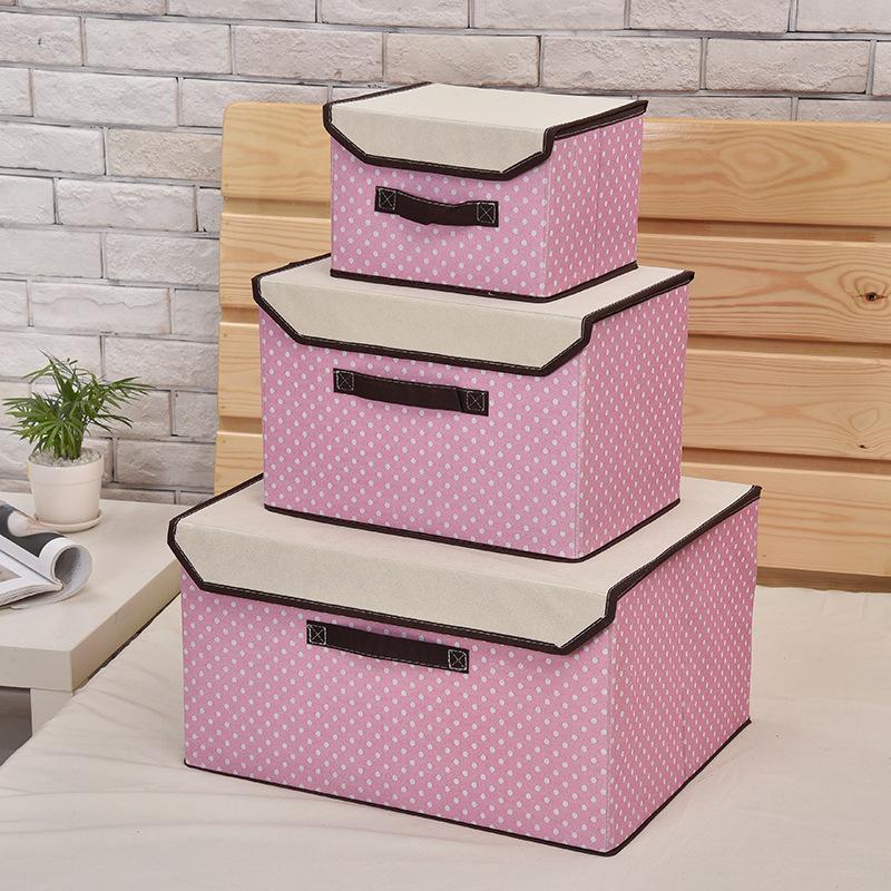 无纺布衣物折叠收纳箱内衣收纳盒玩具整理箱超大号储物箱一件代发