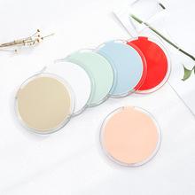 韓國時尚圓形鏡迷你翻蓋小鏡子小清新折疊鏡創意便攜式隨身化妝鏡