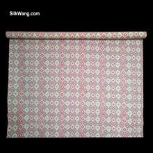 廠家直供 真絲與棉交織面料 i絲棉交織面料 12MM絲棉紡抽象菱形印