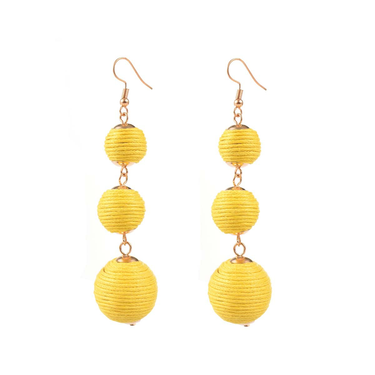 Occident and the United States alloy plating earring (B0744 gold)NHXR1464-B0744 gold