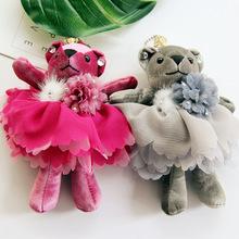 韩国绒熊挂件 熊公仔毛绒玩具 包包钥匙扣挂件 批发 厂家直销