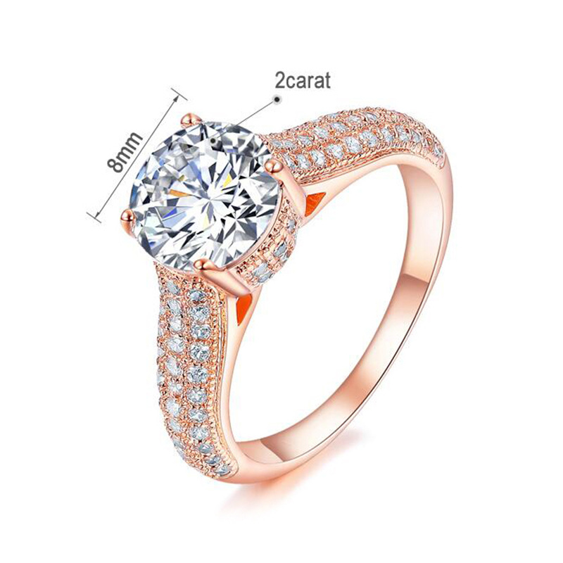 Sleek minimalist micro-inlaid zircon ring NHLJ143937