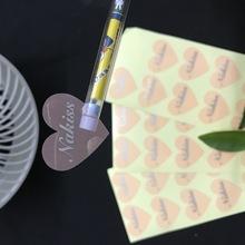 定制各种透明标签透明封口贴不干胶印刷透明烫金烫银异形不干胶
