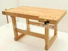 进口榉木木工工作台实木桌 多功能操作台学生桌 多功能木工桌批发