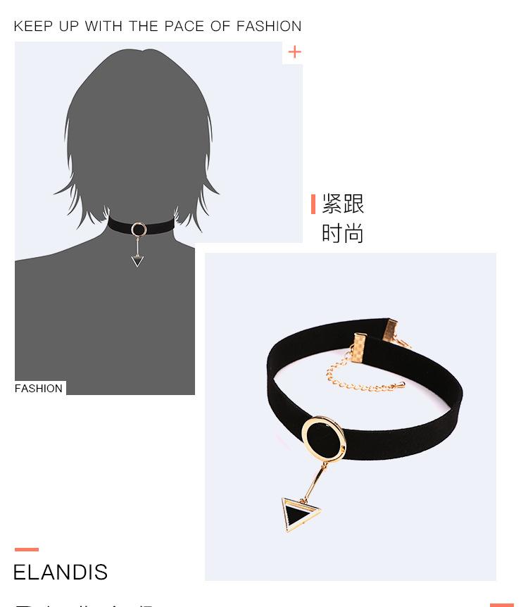 Fashion OL metal plating necklace (Golden black)NHNTF1274-Golden black