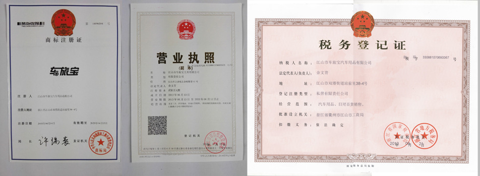 Three certificates