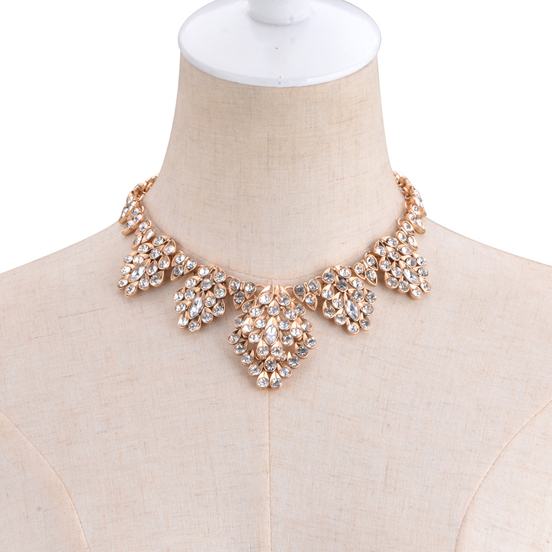 other alloy other necklace (champagne)NHYT0314-champagne