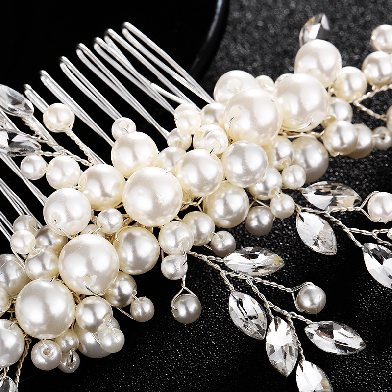 Beads Fashion Geometric Hair accessories  (white) NHHS0307-white
