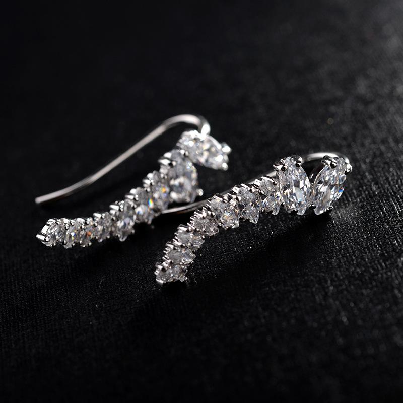 Alloy Korea Geometric earring  (Rose alloy) NHLJ4112-Rose-alloy