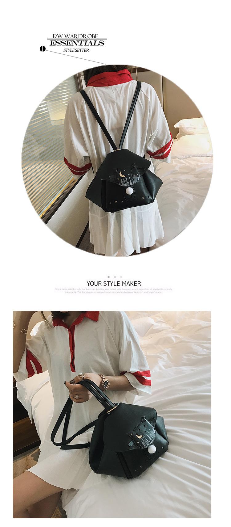 Korean version PUbackpack (Beige)NHPB0621-Beige