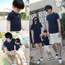 Áo thun gia đình thời trang, màu sắc ngộ nghĩnh, phong cách Hàn