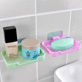 A2509 non-perforated wall hanging soap box bathroom suction soap rack toilet leachate soap box