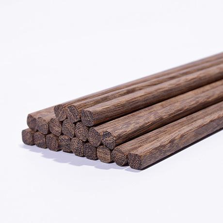 Nhà máy bán hàng trực tiếp của đũa gỗ không có cánh sáp sơn đũa gỗ đũa gỗ 25cm wenge Đũa