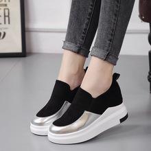 2017新款韩版爆款内增高小白鞋女鞋 圆头休闲鞋子单鞋批发