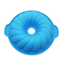 圆形带耳i托盘硅胶蛋糕饼干模具微波炉烤盘烘焙产品厂家批发
