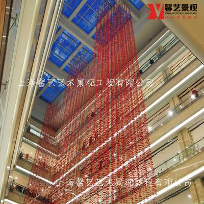 商场亮片美陈吊饰通道装饰吊挂橱窗陈列装饰品艺术景观工程制作