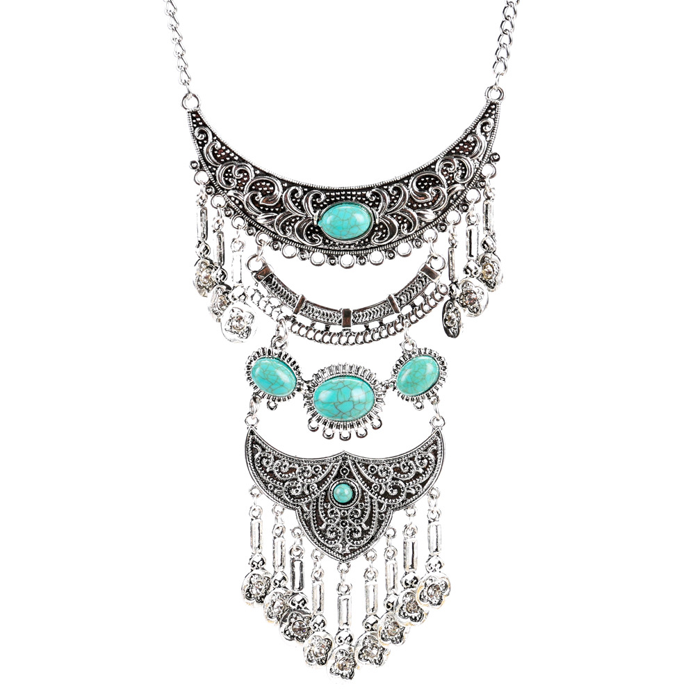 Exotic alloy plating necklace (green)NHJE0452-green