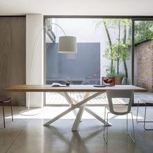 實木辦公桌簡約創意辦公室會議桌鐵藝洽談桌現代工作室職員辦公桌