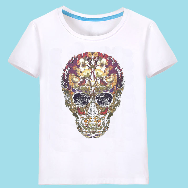 Cotton FashionT-shirt(White T Rose - Male S) NHSK0499-White-T-Rose-Male-S