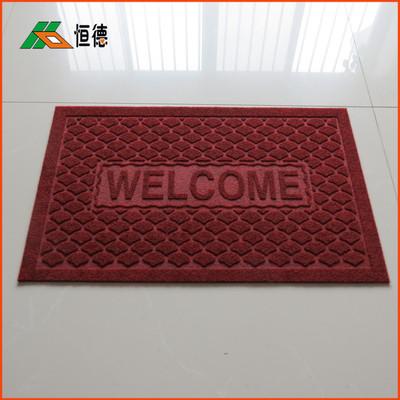 新款地垫批发 迷你拉绒压花门垫 pvc防滑门厅玄关入口地毯