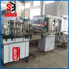 青岛百威啤酒易拉罐碳酸饮料灌装机全套易拉罐啤酒设备加工厂