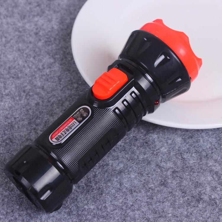 大容量手握式电筒LED强光手电2档位 301G1充电式手电筒