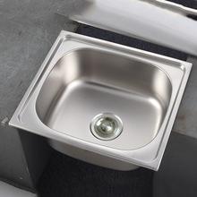 廠家供應廚房304不銹鋼洗菜盆4641單盆水槽工廠小單槽洗手池