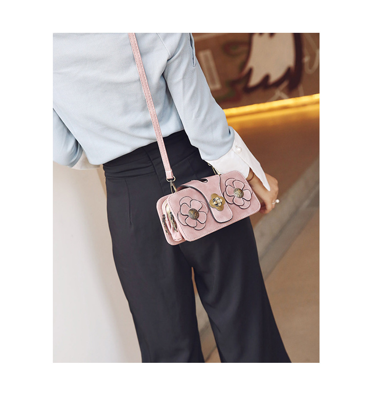 Korean version PUfashion bag (Pink)NHPB0103-Pink