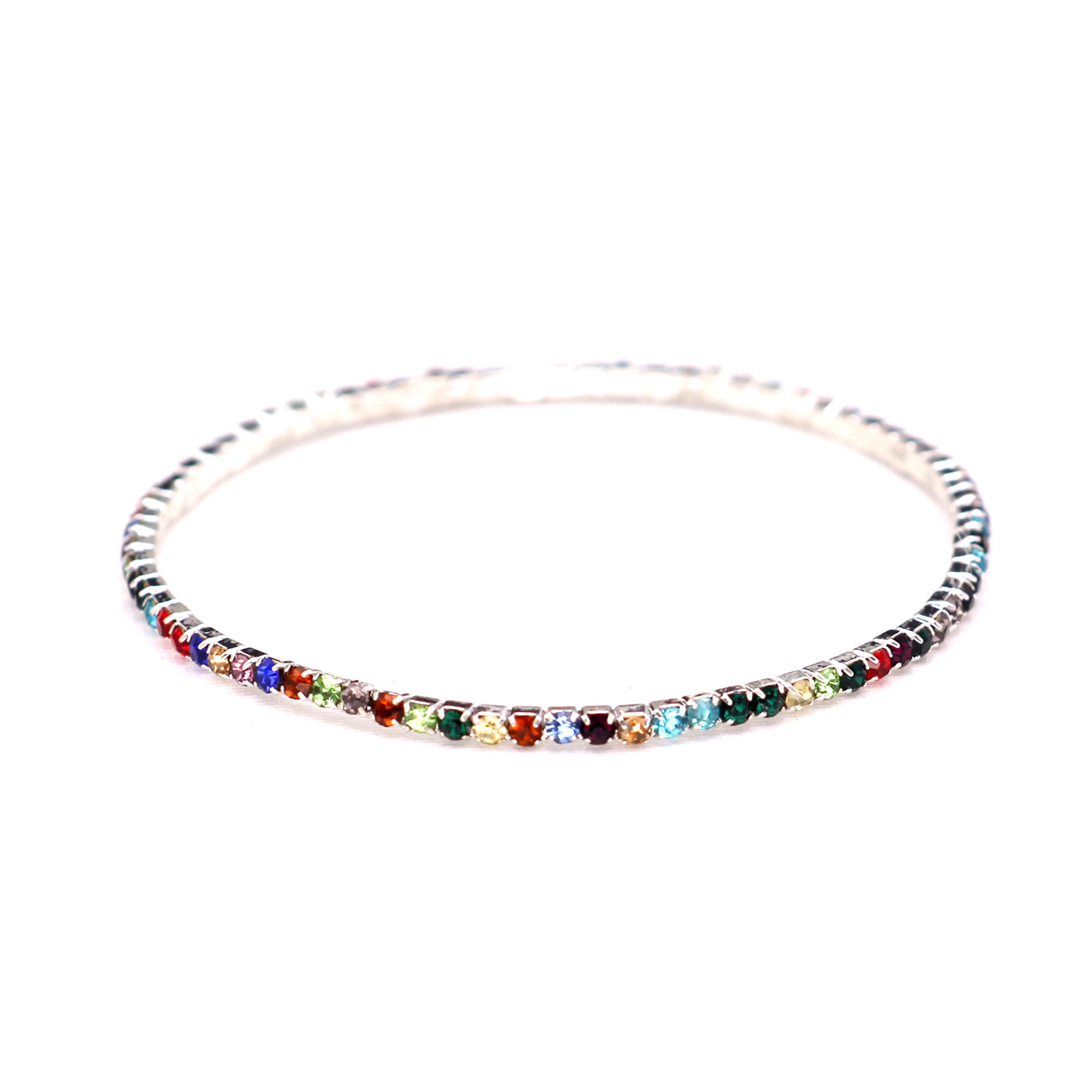 Simple crystalBracelet (Ultra-fine silver color diamond-k9)NHIM0772-Ultra-fine silver color diamond-k9