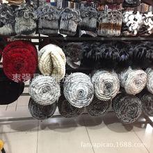 獭兔皮草帽子 时尚甜美兔毛帽子 编织帽保暖厂家批发新品上架
