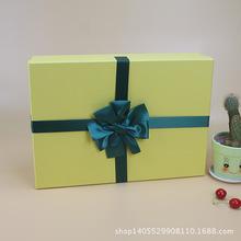 精品高档情人节礼品盒天地盖纸盒定制精致蝴蝶结生日礼物首饰礼盒