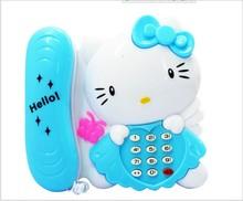 儿童玩具电话 宝宝智能早教 启智音乐灯光卡通电话机 电子琴玩具