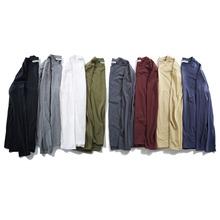 春季肥佬大码男式?#21487;玊恤长袖 纯棉圆领宽松长袖打底衫八色可选