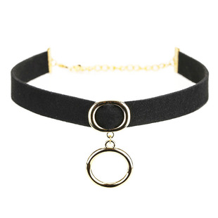 Korea Fashion Harajuku Metal Ring Short Necklace Women's Clavicle Necklace Collar Matching Accessories All-match Retro