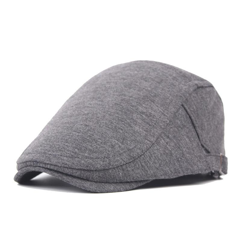毛呢贝雷帽子男士复古光身前进帽女帽中老年出游休闲鸭舌帽子批发