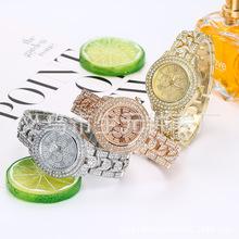 爆满天星镶钻女表手链表 时尚钢带女士手链表 时装手表石英表批发