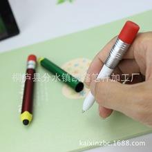 供应仿真铅笔造型笔 触控圆珠笔 神似铅笔广告圆珠笔 创意电容笔