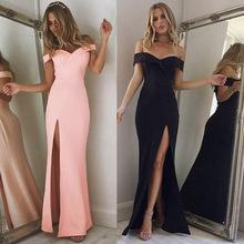 Đầm nữ thời trang, kiểu dáng hở vai, thiết kế xẻ cao quyến rũ