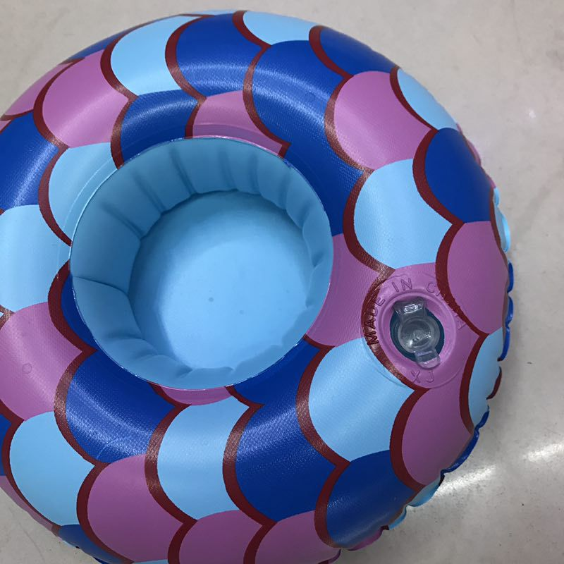 PVC inflatable cup holder thickening cup mermaid coaster NHWW142500