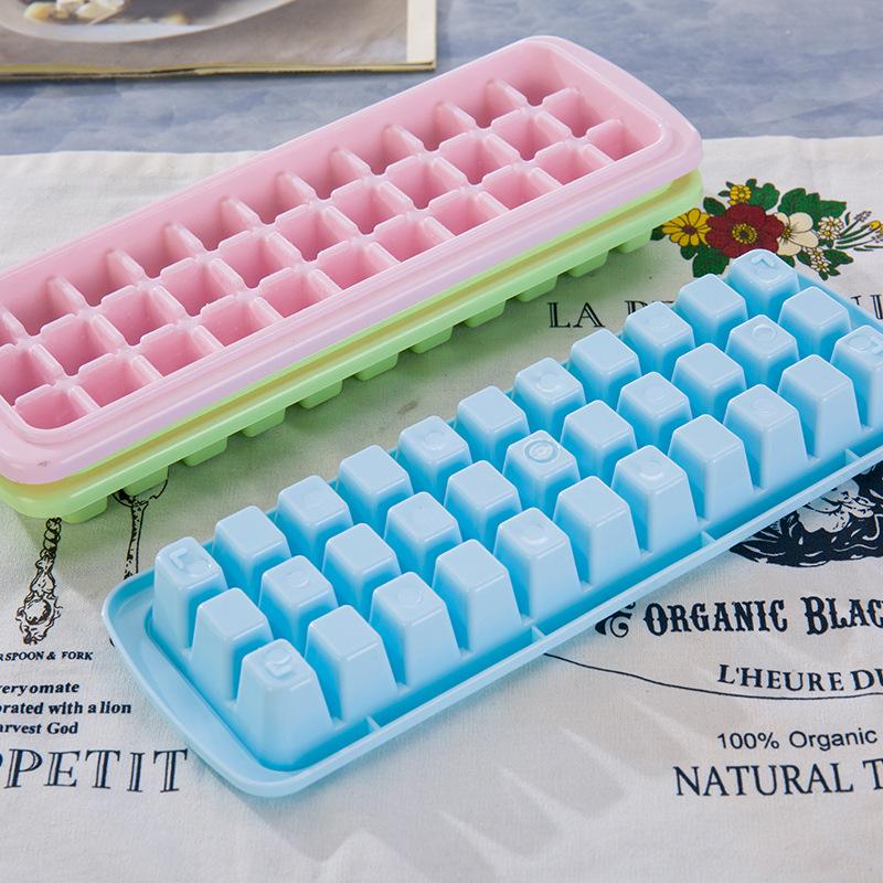 洛可可冰格盒塑料带盖铲制冰模型方块格子冰块磨具宝宝辅食雪糕盒