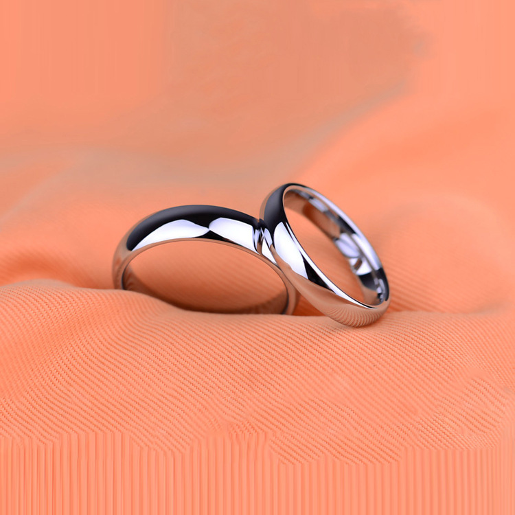 Occident and the United States Titanium steel plating Titanium steel ring (6mm silver-13)NHIM0912-6mm silver-13