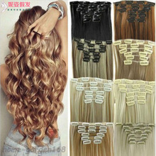 New product explosion wig piece clip hair 7 sets of straight hair extension piece chemical fiber wig