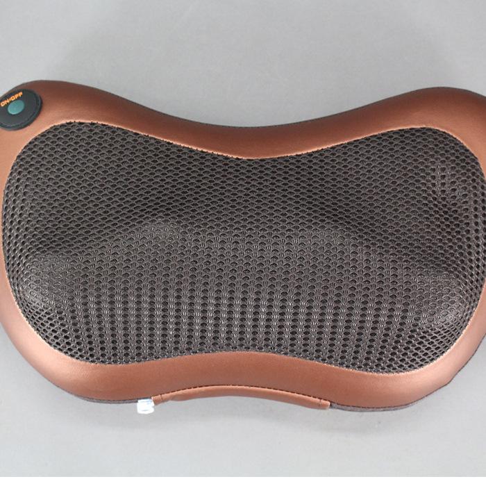 车载按摩枕 电动颈椎按摩器 家用红外加热揉捏肩背按摩头枕 批发