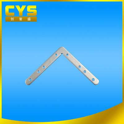 深圳厂家售LED多孔攻牙平角码 灯用镀锌角码 L型螺纹孔连接五金件