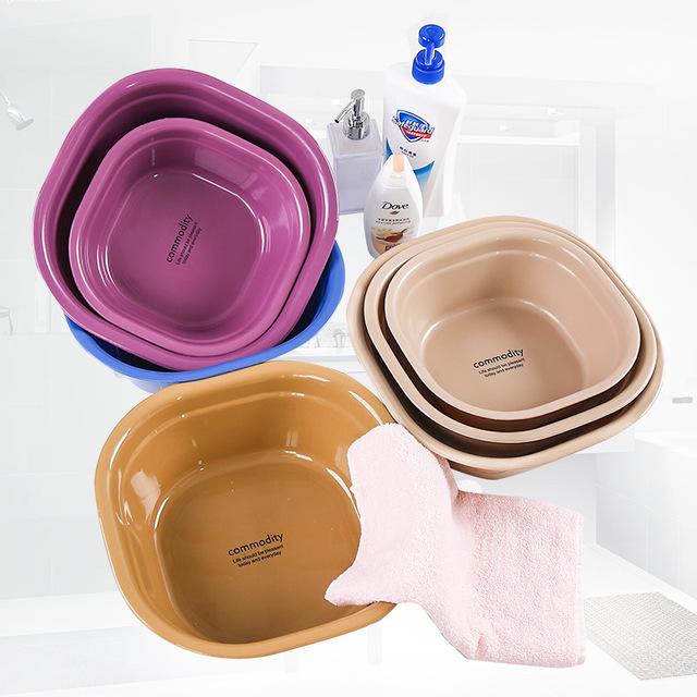 Xin người bạn của nhựa gia dụng lưu vực chậu rửa vuông nhỏ dày lên chân rau bé bồn tắm giặt trẻ em bán buôn của Lưu vực hộ gia đình