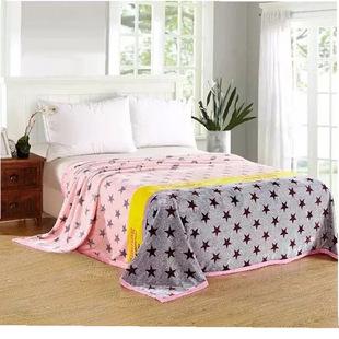 加厚婚礼礼品法兰绒毯珊瑚绒毯空调被云貂绒卡通毯单双人一件代发