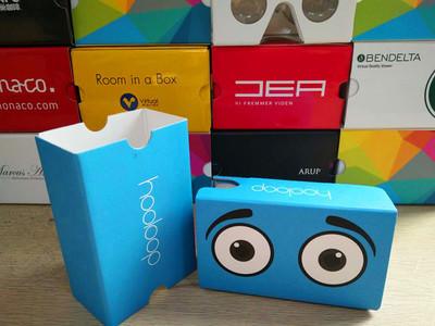 VR二代cardboard 新谷歌纸盒VR虚拟现实3D眼镜头盔工厂VR定制